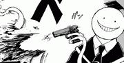 Korosensei shots his own tentacle