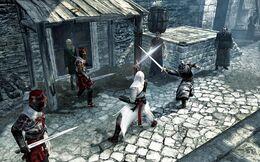 640px-Assassin - Altaïr - High ranking Crusaders attacking