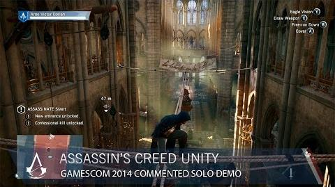 Assassin's Creed Unity Gamescom 2014 Commented Solo Demo US-0