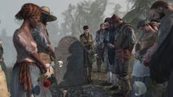 アキレスの葬儀に出席するホームステッドの住人たち