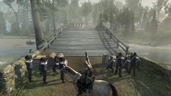 レキシントン・コンコードの戦いで民兵の指揮をとるコナー