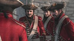 赤服に変装するリーとテンプル騎士
