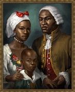 アキレスと家族の肖像画