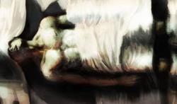 聖骸布に包まれるブルータス