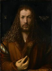 800px-Albrecht Dürer - 1500 self-portrait (High resolution and detail)