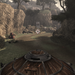 Ezio et les mercenaires pilotant le char