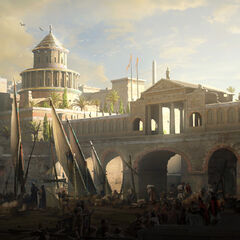 Concept art of Alexandria's rich district