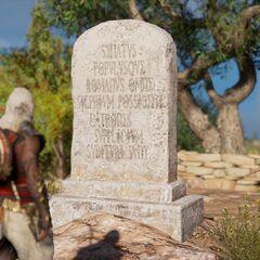 Une stèle signalant l'appropriation du silphion par les Romains