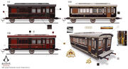 ACS Train Hideout Carriages - Concept Art