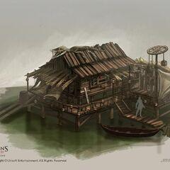 圣丹杰的巫毒教木屋