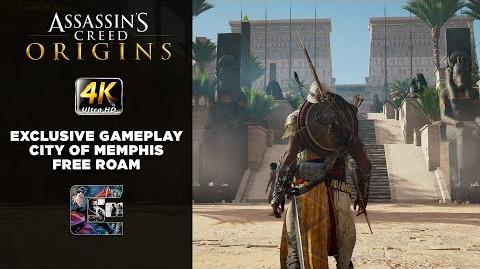 Assassin's Creed Origins - Exclusive Gameplay - City of Memphis Free Roam - 4K Xbox One X