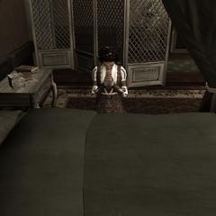 Maria bid in haar kamer.