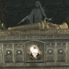 莱奥尼乌斯的雕像和石棺