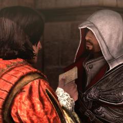 哥白尼将信交给埃齐奥
