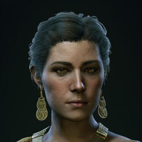 安舒莎的头部模型