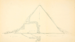 DTAE Section through Menkaure's Pyramid