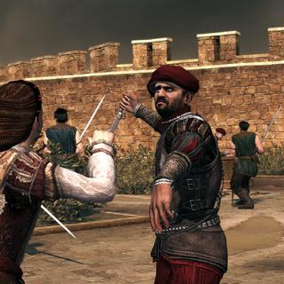 一名正在攻击克劳迪娅的博吉亚卫兵