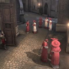 Les gardes donnant l'accès aux étages supérieurs