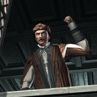 Le père de Cristina menaçant Ezio