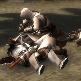 Altaïr assassinant <b>Frédérick</b>