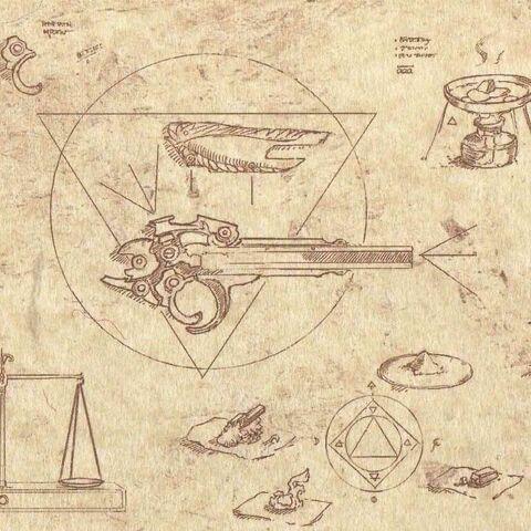 Schéma du <i>Pistolet caché</i> dans le <i>Codex</i>