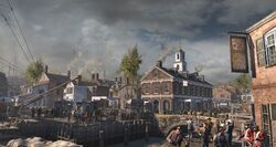 Haven van Boston in-game