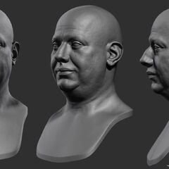Head sculpts of Louis