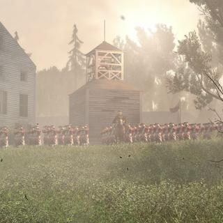 Les troupes britanniques à Lexington