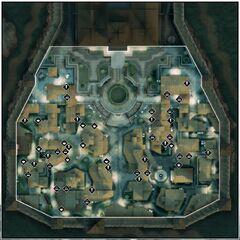Een kaart van Monteriggioni in het Animi-trainingsprogramma.