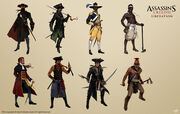 AC3L Various Characters - Concept Art