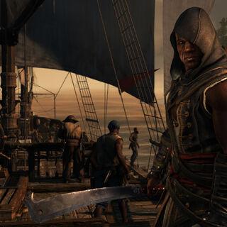 阿德瓦莱在海盗船上