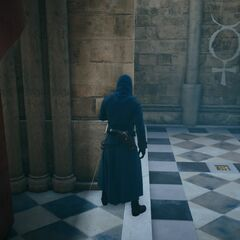 Arno s'échappant par un passage secret