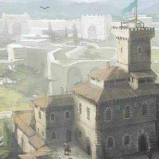 Concept-art des <b>baraquements d'Alviano</b>
