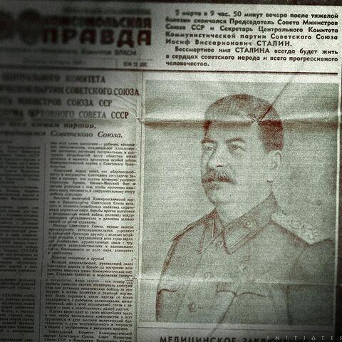 俄罗斯的一张报纸上的一篇报道了约瑟夫·斯大林逝世的文章