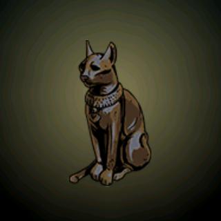 埃及猫 - 保佑可以杀死老鼠、寄生虫和蛇的象征,猫渐渐成为保护和进展的象征。