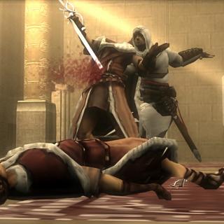 Altaïr impaling Shalim