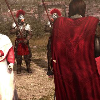 Les cardinaux repérant Ezio