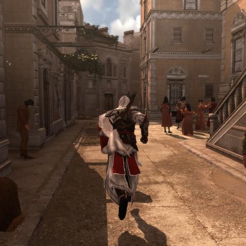 Ezio traversant Rome