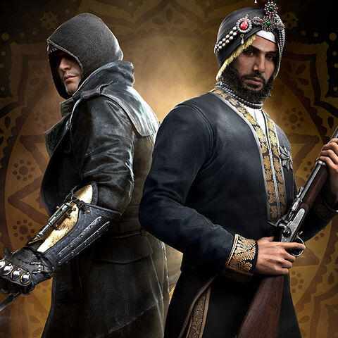 Promotional art of Singh with Jacob