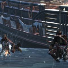 阿德瓦莱和他的船员逃离<a href=