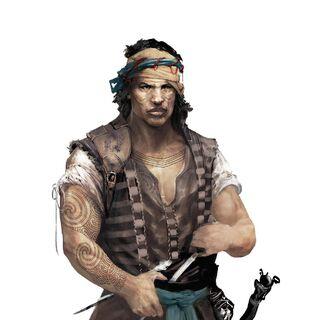 Concept art of a mercenary