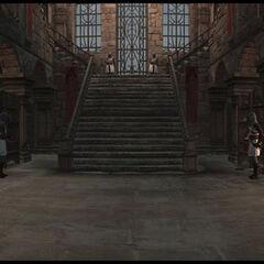 城堡内部的全景视角