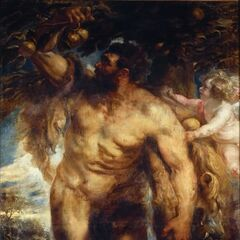 赫拉克勒斯在赫斯珀里得斯的花园里偷苹果