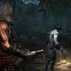 阿德瓦莱带着他的霰弹枪
