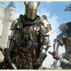 Concept art of 14th century French knights