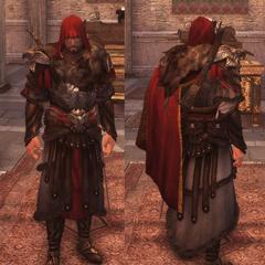 在<i>兄弟会</i>中Ezio穿着这套铠甲.
