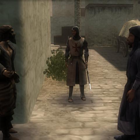看守人与一名海盗对话
