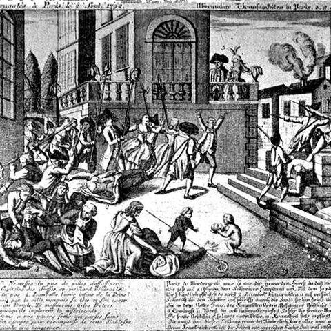 描绘卡慕斯监狱外屠杀行为的绘画作品