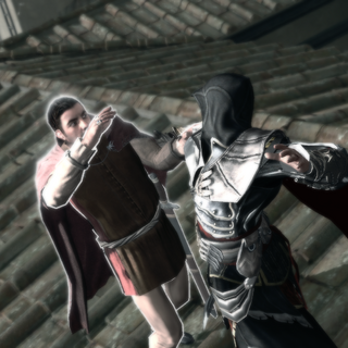 Ezio assassinant le noble