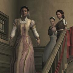 Ezio is weer herenigd met zijn moeder en zus.